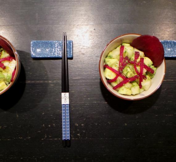 Salade de poire et avocat